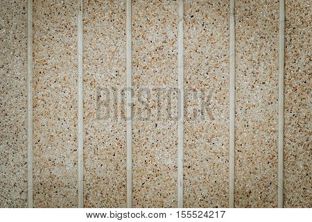 Wall Made from stone sand. horizontal, top view