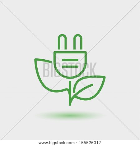 green energy thin line icon. isolated. illustration for business related to renewable energy