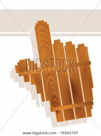 Wood Grain Hand Cursor