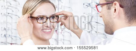 Client At Optical Store