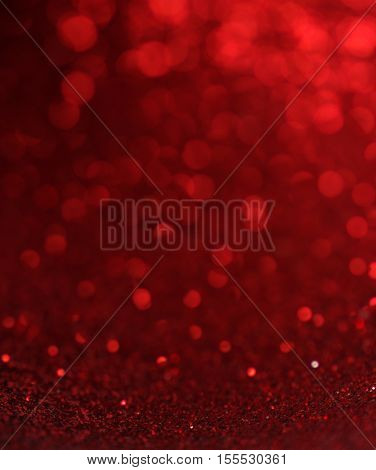 Defocused abstract red lights background .