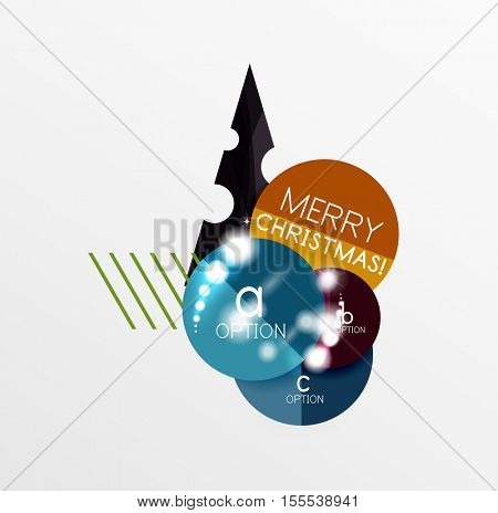 Vector Christmas Sale Paper Stickers