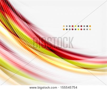 Glossy translucent wave vector template, line pattern
