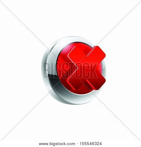 Rejected vector button vector illustrastion on white.