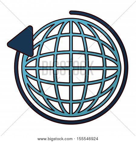 Global sphere icon. Delivery shipping logistic and distribution theme. Isolated design. Vector illustration