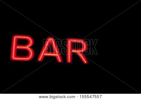 The Index Of Bar On A Wall In The City At Night