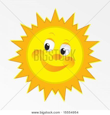 vector happy sun vector art design