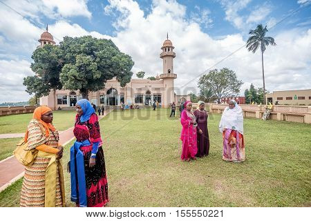 Kampala, Uganda- April 3, 2016: Kibuli mosque in Kampala city Uganda