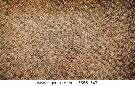 brown coconut mat texture rattan for background