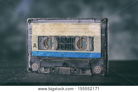 Close Up Of Old Audiocassette