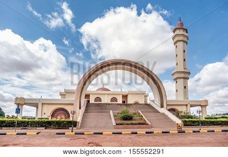 Kampala, Uganda- March 2, 2016: Gaddafi Mosque in Kampala city in Uganda