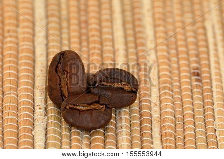 The Fresh roasted arabica Coffee beans with aroma