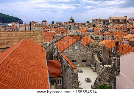 Croatia. Ancient town Dubrovnik architecture view, Balcan