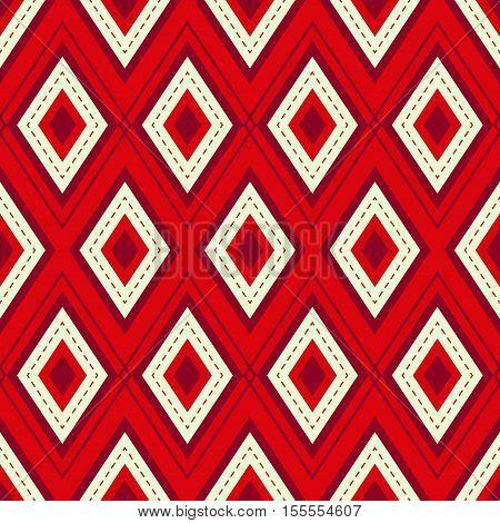 Red Argyle Seamless Pattern