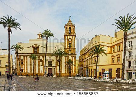 Cadiz, Spain - Sep 19, 2016:Cadiz New Cathedral church