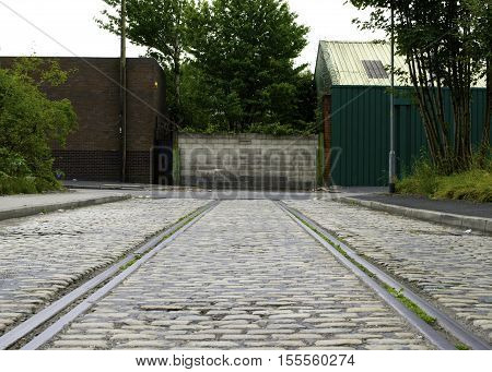 Disused railway lines in the industrial North of England leading nowhere
