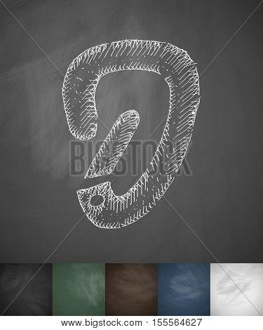 carbine icon. Hand drawn vector illustration. Chalkboard Design