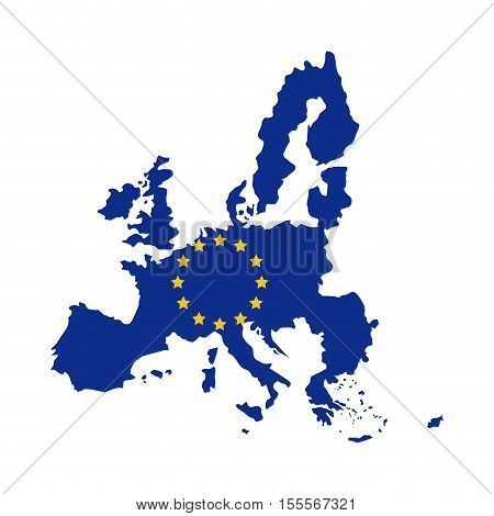 European union map icon. Europe eu country national and politics theme. Isolated design. Vector illustration