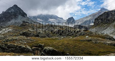 Mountain Landscape With Clouds In The Pyrenees, France,