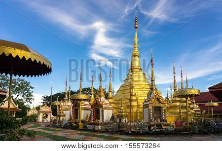 Wat Phra Borommathat - Ban Tak District Tak province Thailand. Buddhist temple in Thailand.