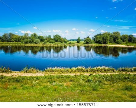 River Elbe In Dessau