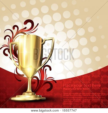 golden vector trophy design