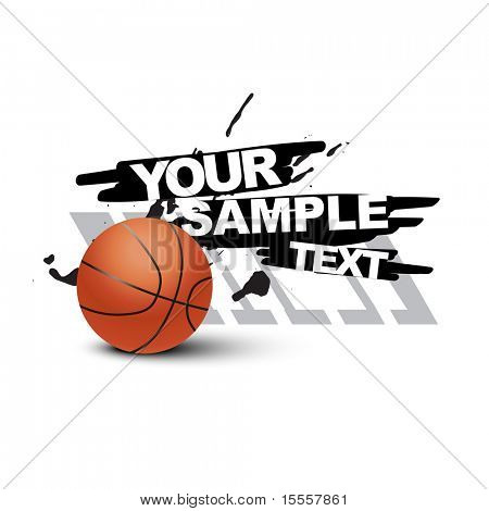 vector abstract basketball design poster