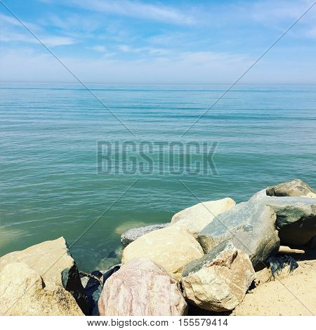 Lake Michigan - A Picture Taken from South Haven, Michigan Along the Beach.
