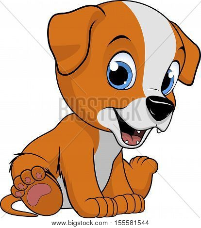 cute dog on a white background, vector illustration