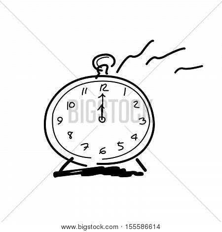 Drawing By Hands Clock Icon, 12 O'clock