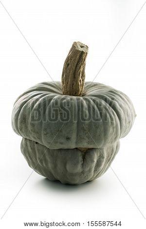 Single Pumpkin beretta Mantuan - the priest's hat on white