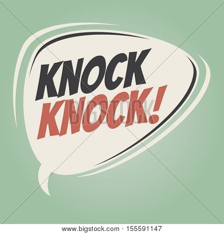 knock knock retro speech balloon