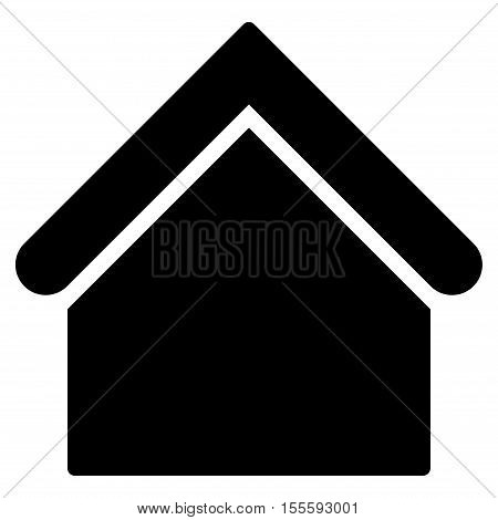 Base Building vector icon. Flat black symbol. Pictogram is isolated on a white background. Designed for web and software interfaces.