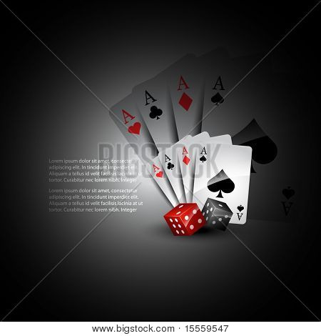 vector playing card with dices beautiful background