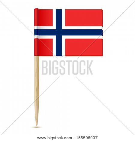 Flag of Norway. Flag toothpick 10eps Isolated on white background