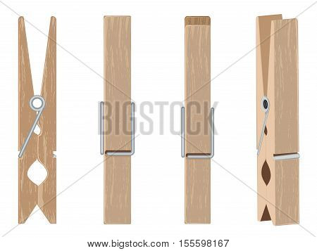 Wooden Clothespin Set