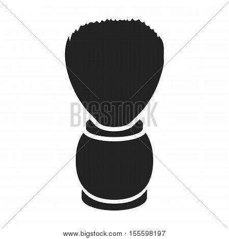 Shaving brush icon in black style isolated on white background. Hairdressery symbol vector illustration.