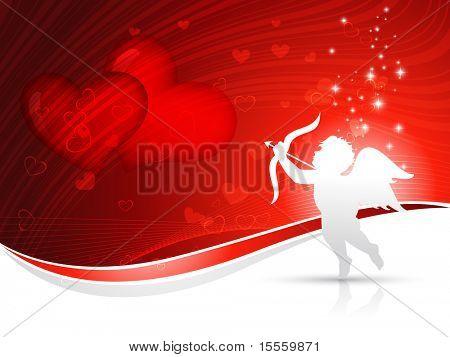 Vector Cupid Herzen Hintergrunddesign