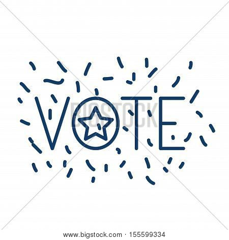 Star icon. Vote president election government  and campaign theme. Isolated design. Vector illustration