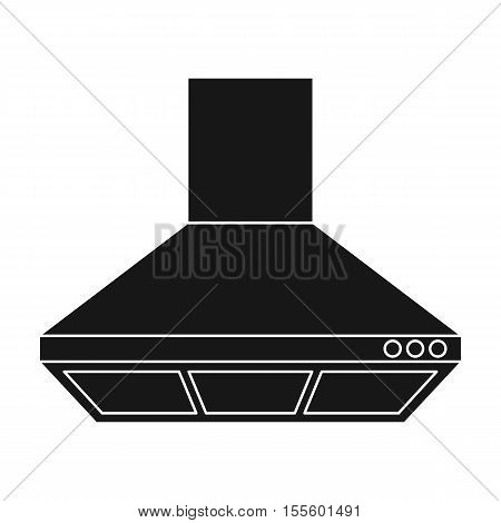Exhaust hood icon in black style isolated on white background. Kitchen symbol vector illustration.