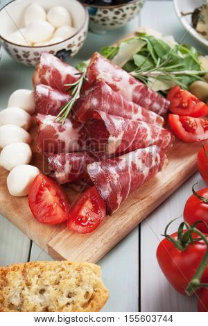 Italian capicola or capocollo, cured and aged pork meat