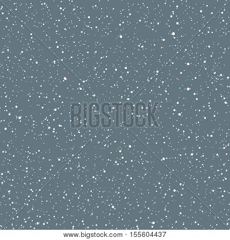 Snowflake seamless pattern. Holidays Snowfall Seamless Vector Pattern.