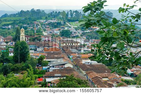 View of the historic town of Salento Colombia