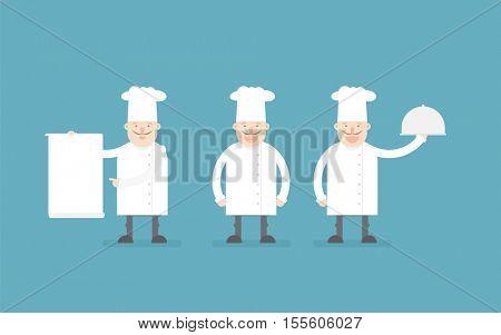 chef cook. cartoon flat character
