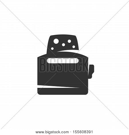 Toaster Icon isolated on a white background. Toaster Logo design vector template. Simple Logotype concept icon. Symbol, sign, pictogram, illustration - stock vector