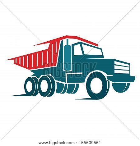 tip truck abstract isolated on white background