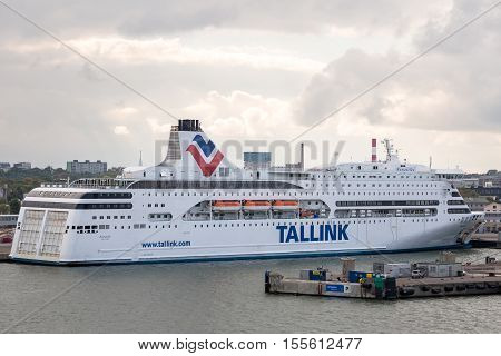 Tallink Cruise Liner Leaving Harbor