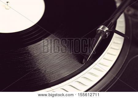 Dj Needle On Turntable