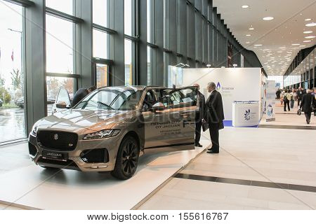 St. Petersburg, Russia - 4 October, The exhibition in the lobby of the auto expo forum, 4 October, 2016. Petersburg Gas Forum which takes place in Expoforum.