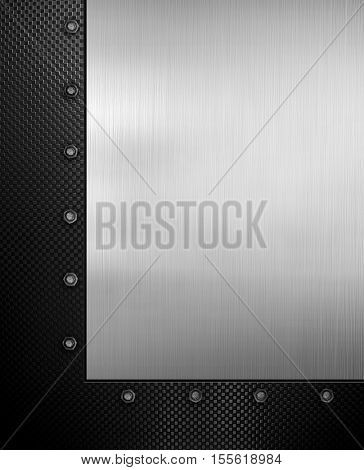 metal template with L Shape background